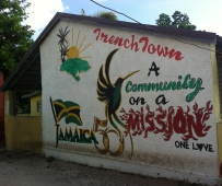 The fabulous entrance to the Trench Town Ceramics and Art Centre