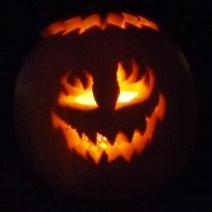 Jack-o-lanterns always look best in the dark.