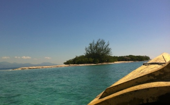 First view of Lime Cay