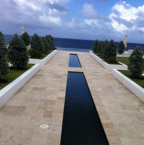 The Trident Hotel walkway to the infinity pool. Swoon
