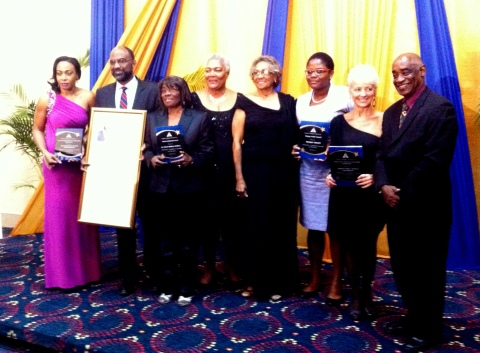 The winners, along with our CEO, our President Lady Rheima Hall, and our Chairman