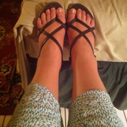 I have to admit, vinyl or no I like my new sandals.
