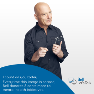 Please share the image from Bell's Let's Talk page.