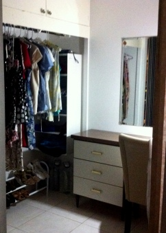 Wish I could get a fish-eye shot of my closet/dressing room. There's an equal amount of storage on the opposite side.